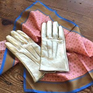 J. Crew Silk & TopShop Metallic Leather Gloves